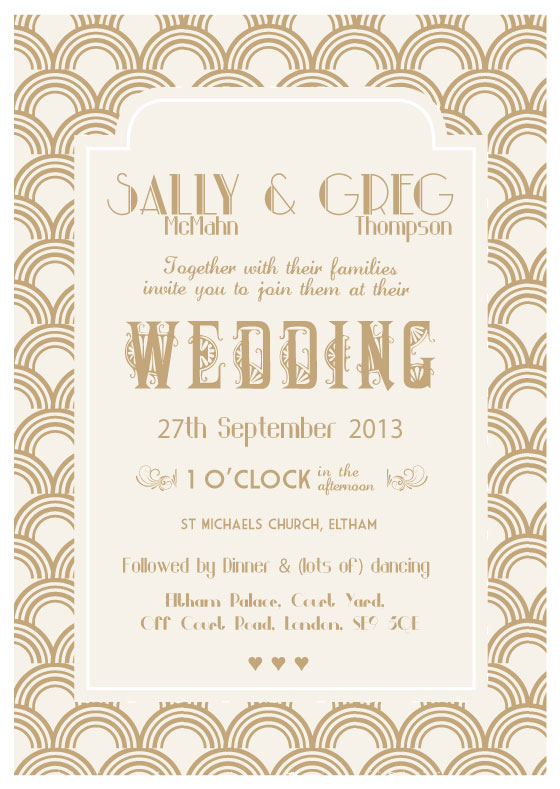 the great gatsby wedding invitation - Great Gatsby Wedding Invitations