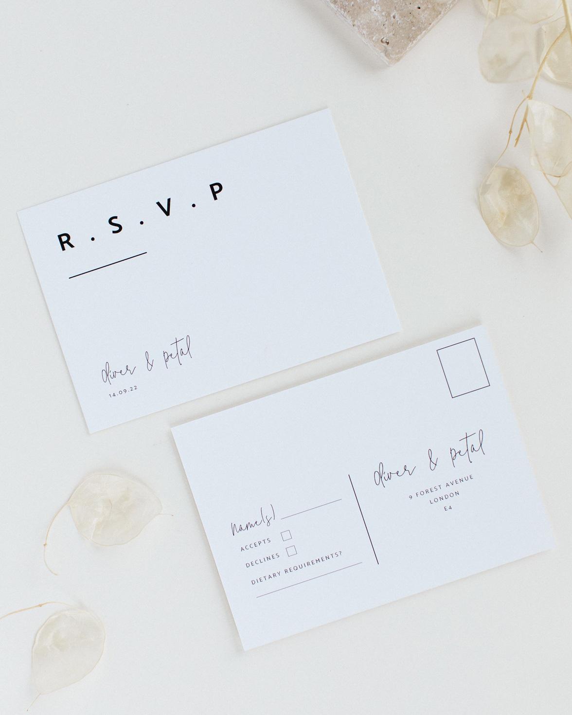 Modern Type wedding RSVP