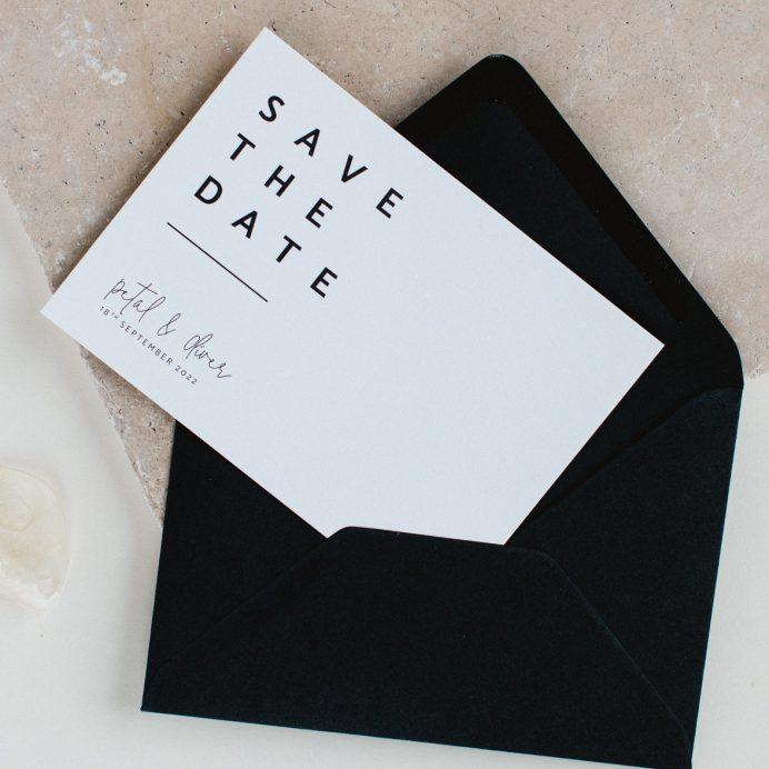 Modern Type wedding save the date