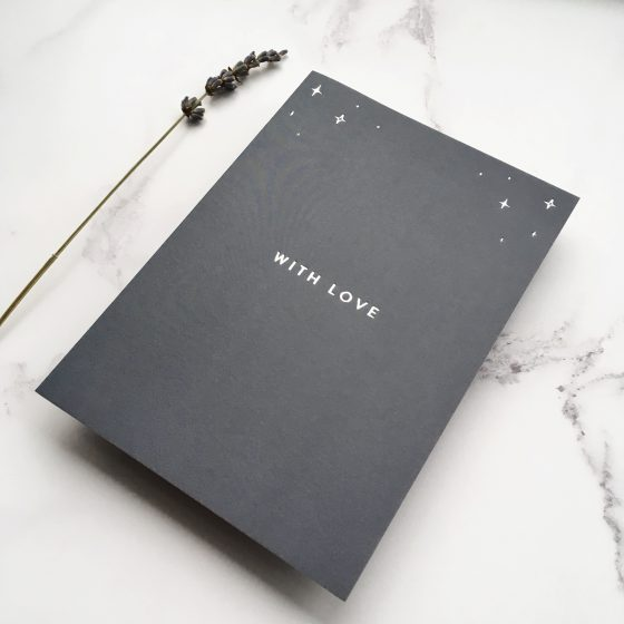 hot foil navy card