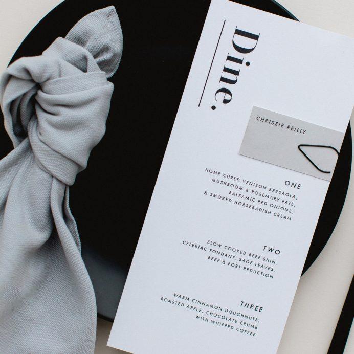 Bold Note white menu
