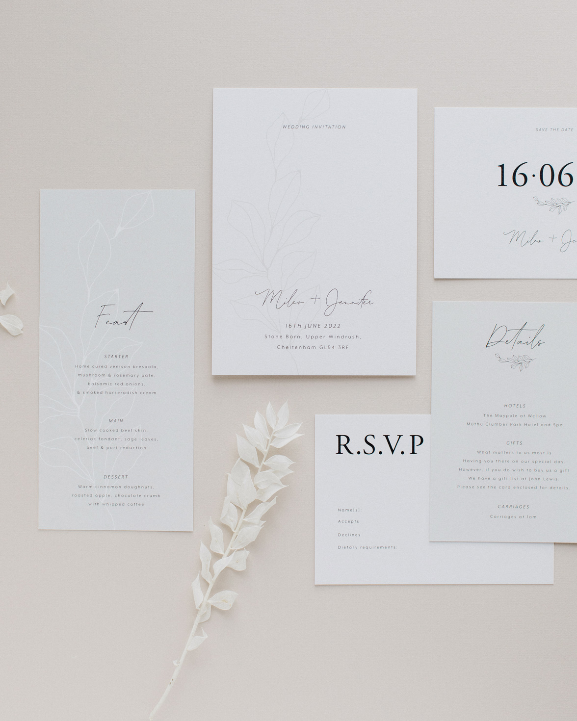 Fleur Classique wedding stationery collection overview