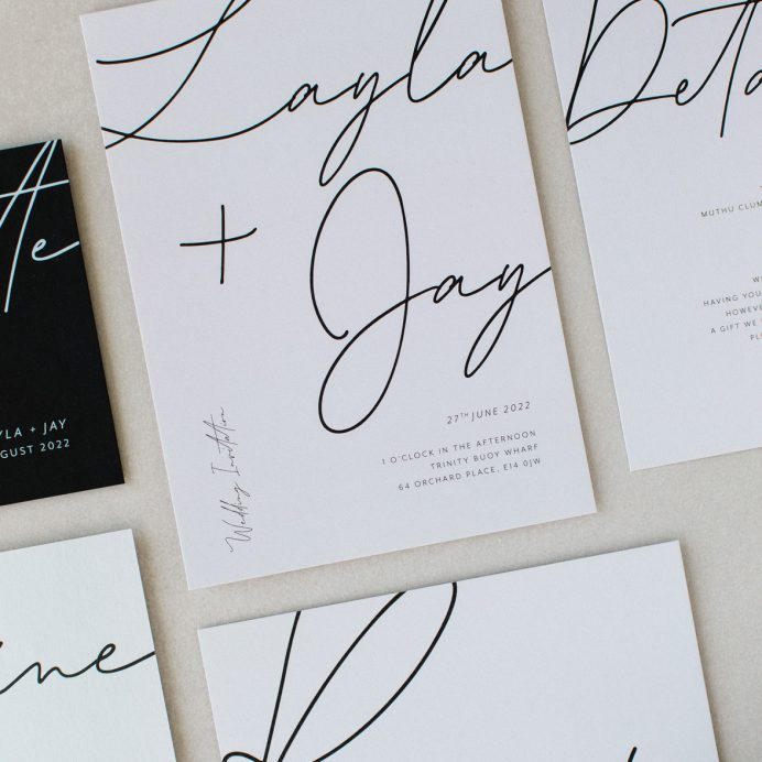 Libre Firma Wedding stationery collection overview