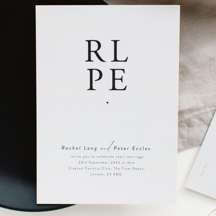 Timeless wedding invitation
