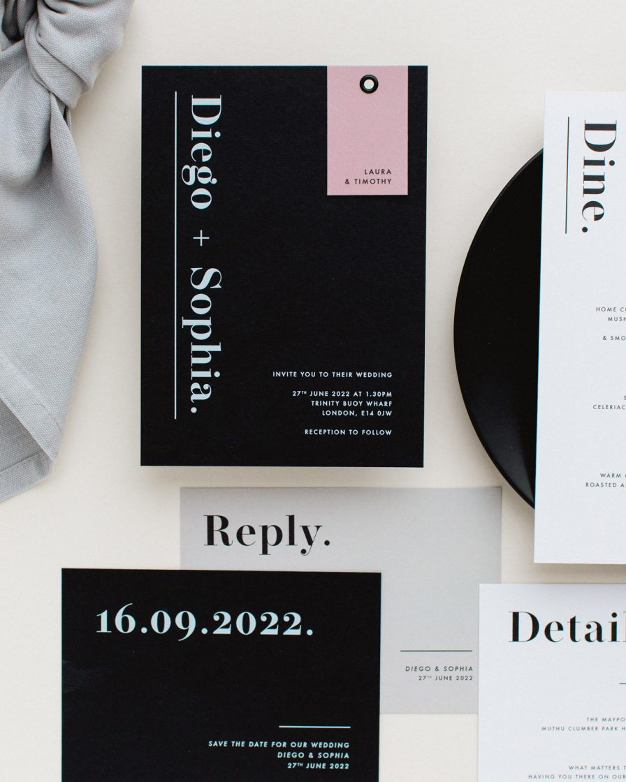 Bold Note Wedding stationery overview