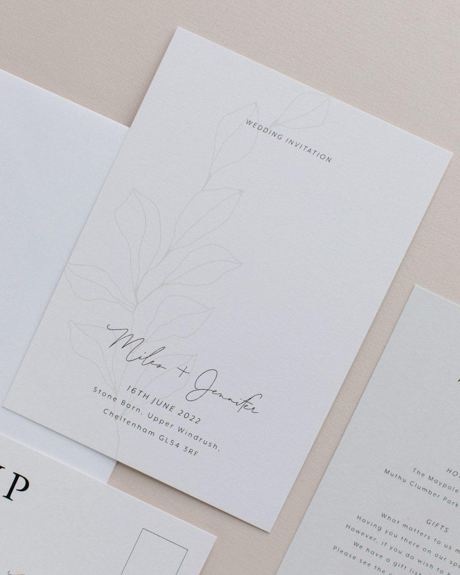 Fleur Classique Wedding stationery overview