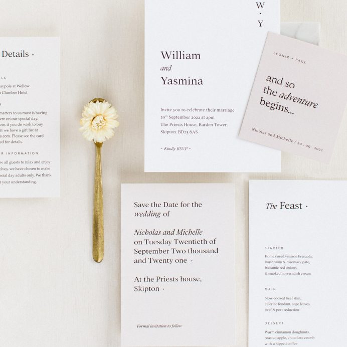 Modern Revival wedding collection overview