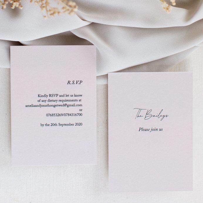 Simply Harmony wedding RSVP