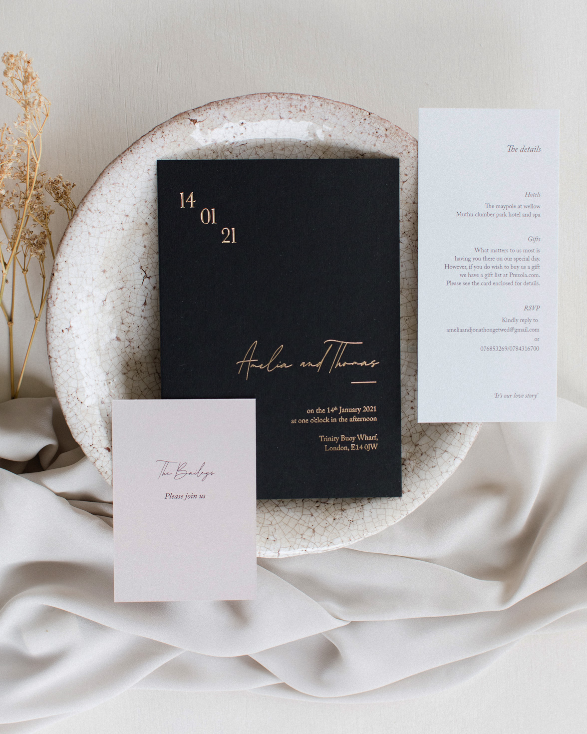 Simply Harmony wedding stationery collection overview