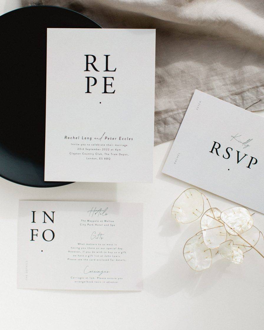 Timeless Wedding stationery overview