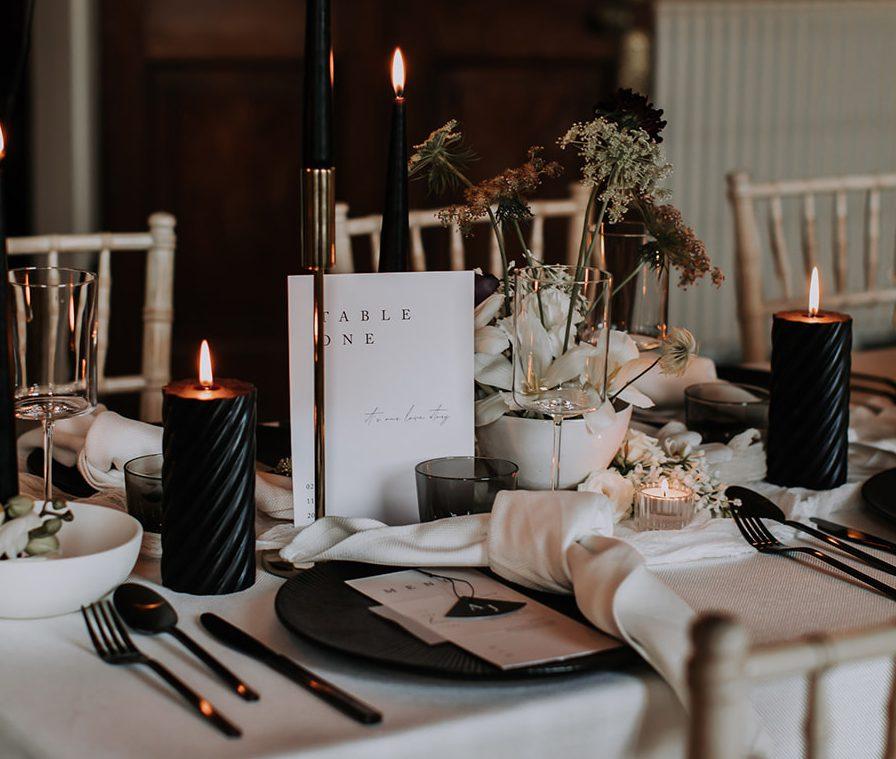 Modern Wedding Table number