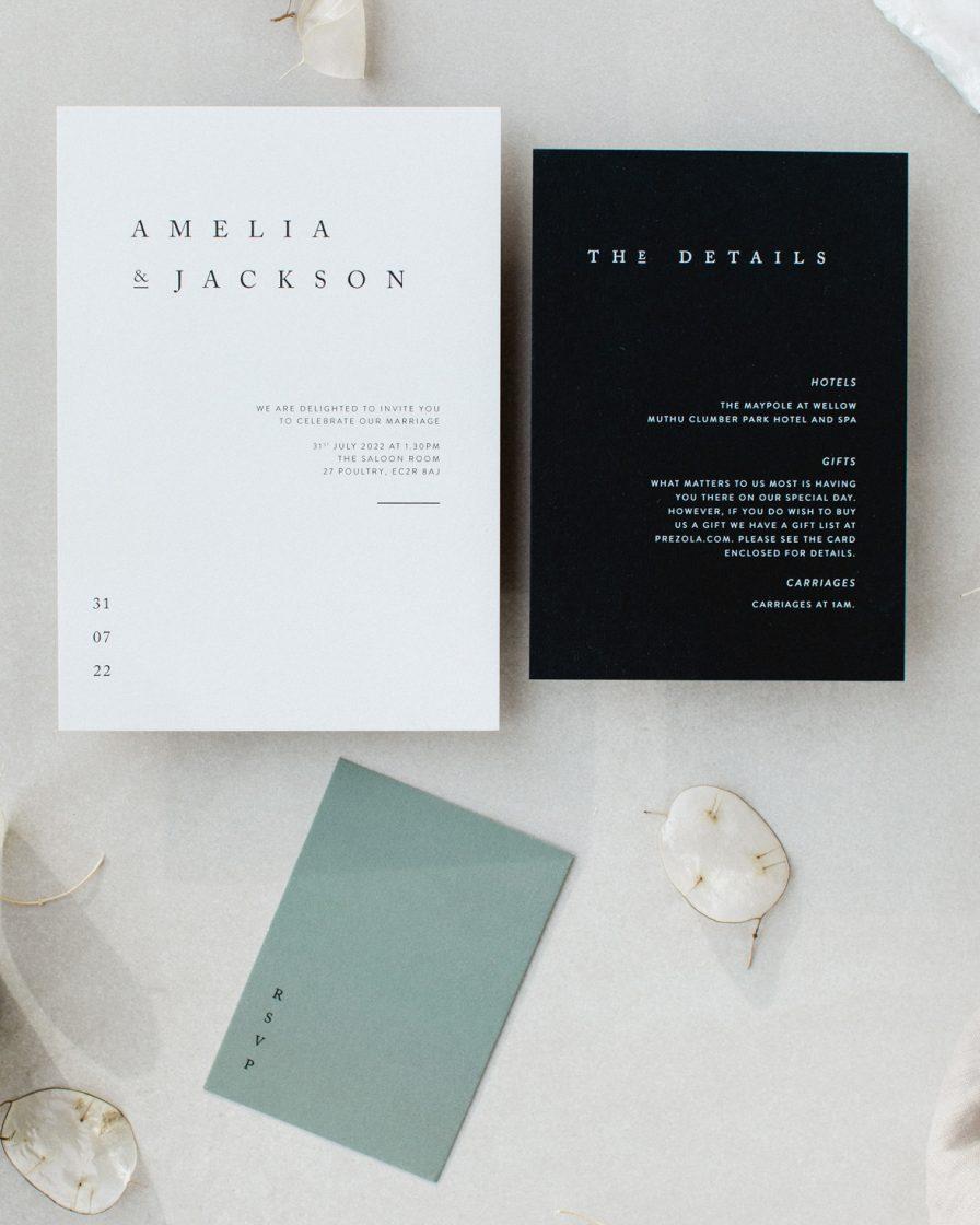 Elegant Type wedding invitation sample pack