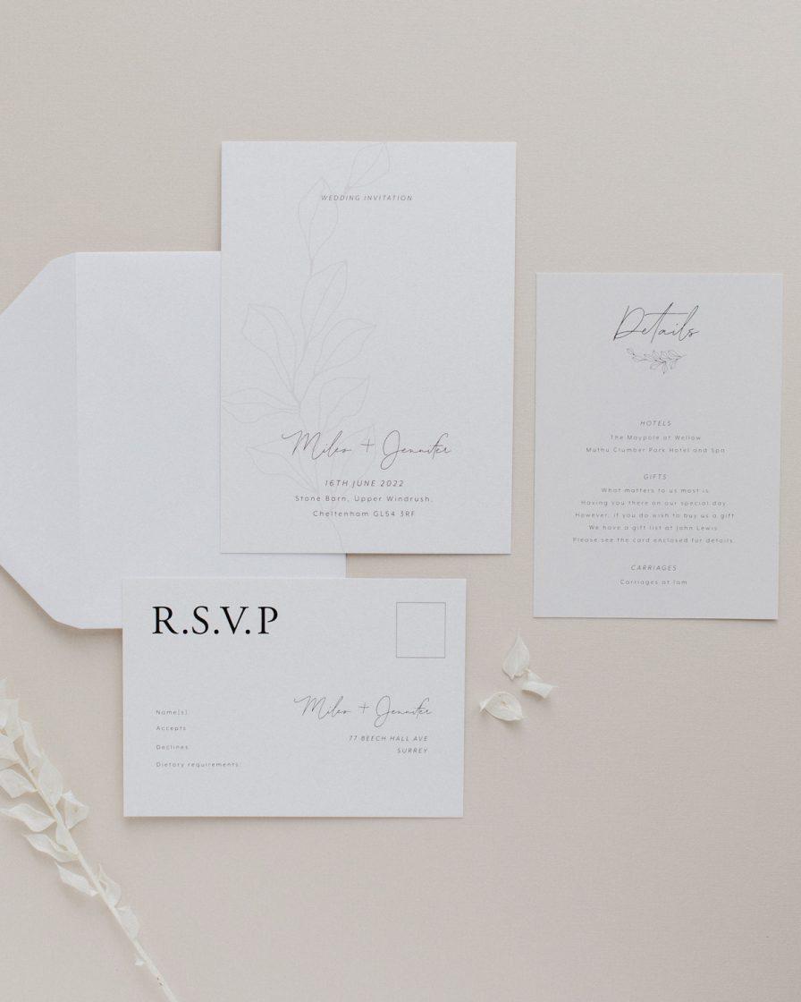 Fleur Classique wedding stationery sample pack