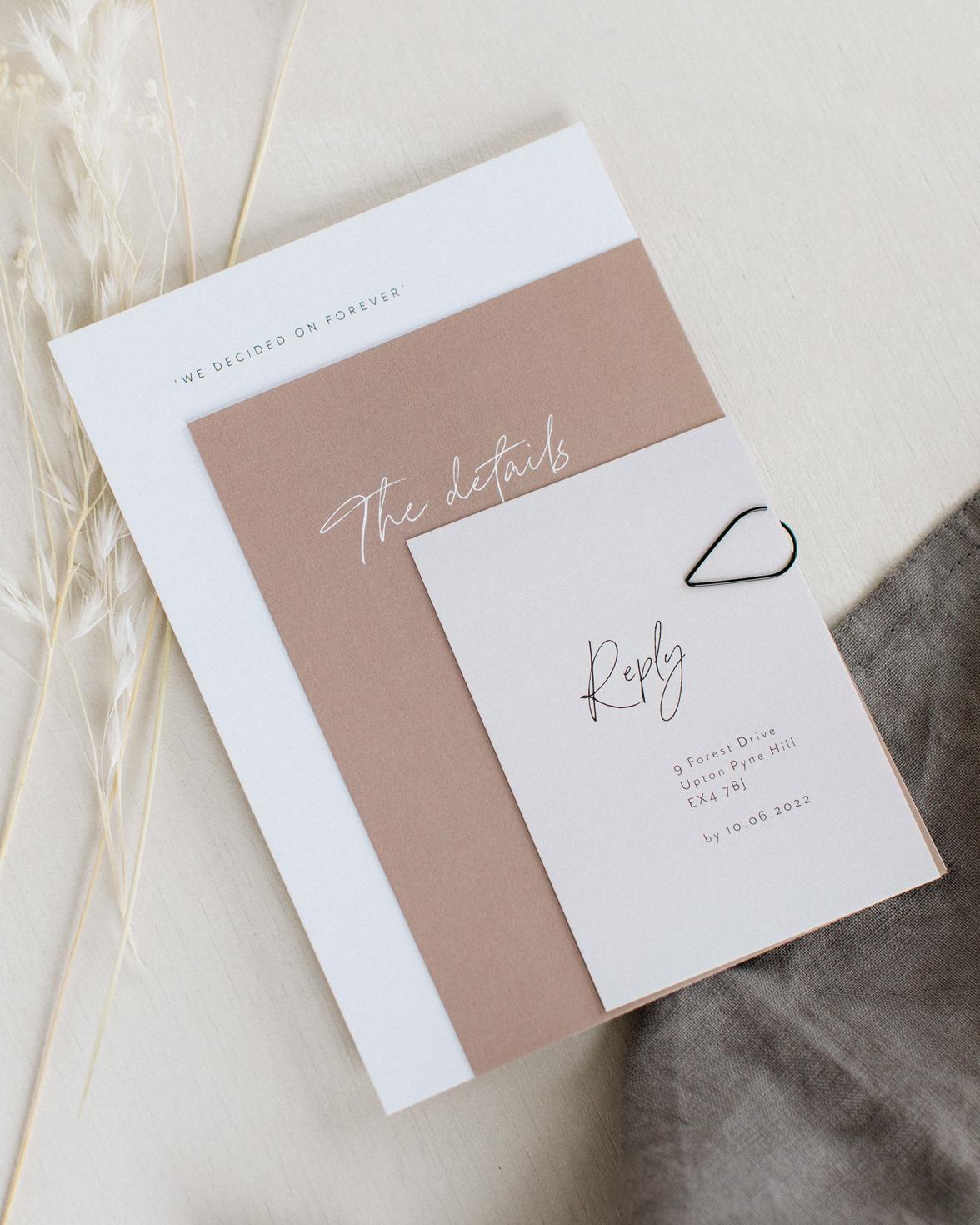 Forever Bound wedding invitation sample pack