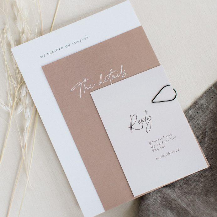 Forever bound wedding stationery bundle