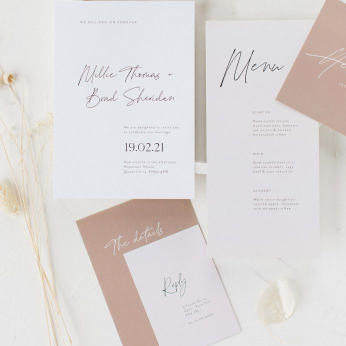 Forever bound wedding stationery collection overview