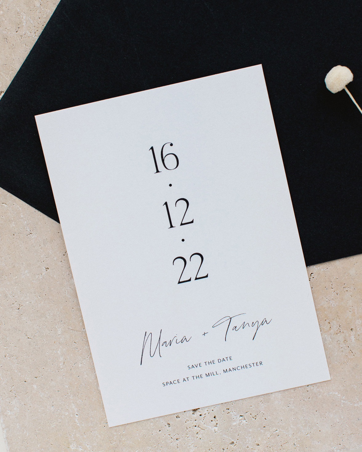 Half Arch wedding save the date