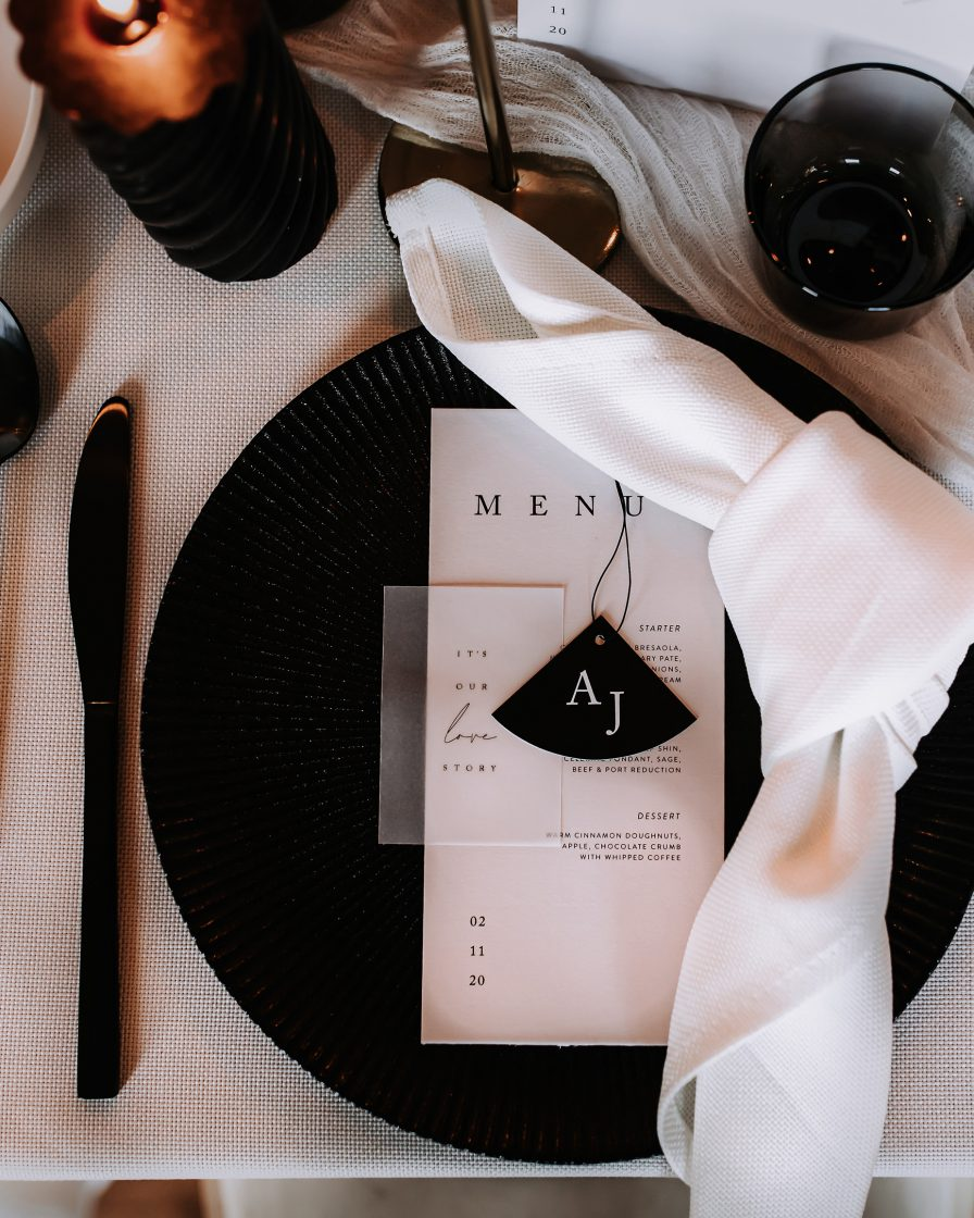 Styled shoot - set table place