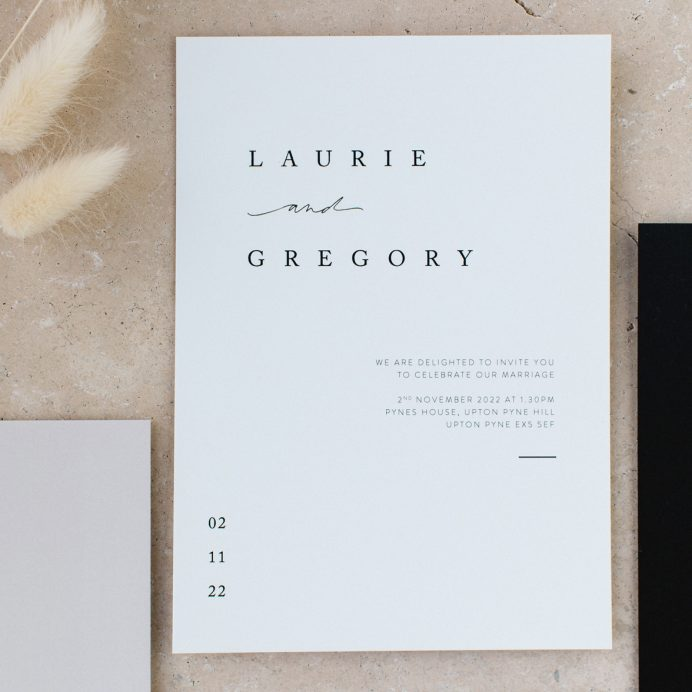 Love story Wedding invitation