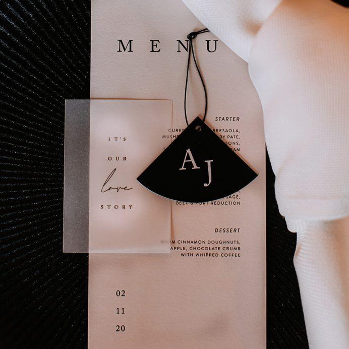 Love story Wedding menu