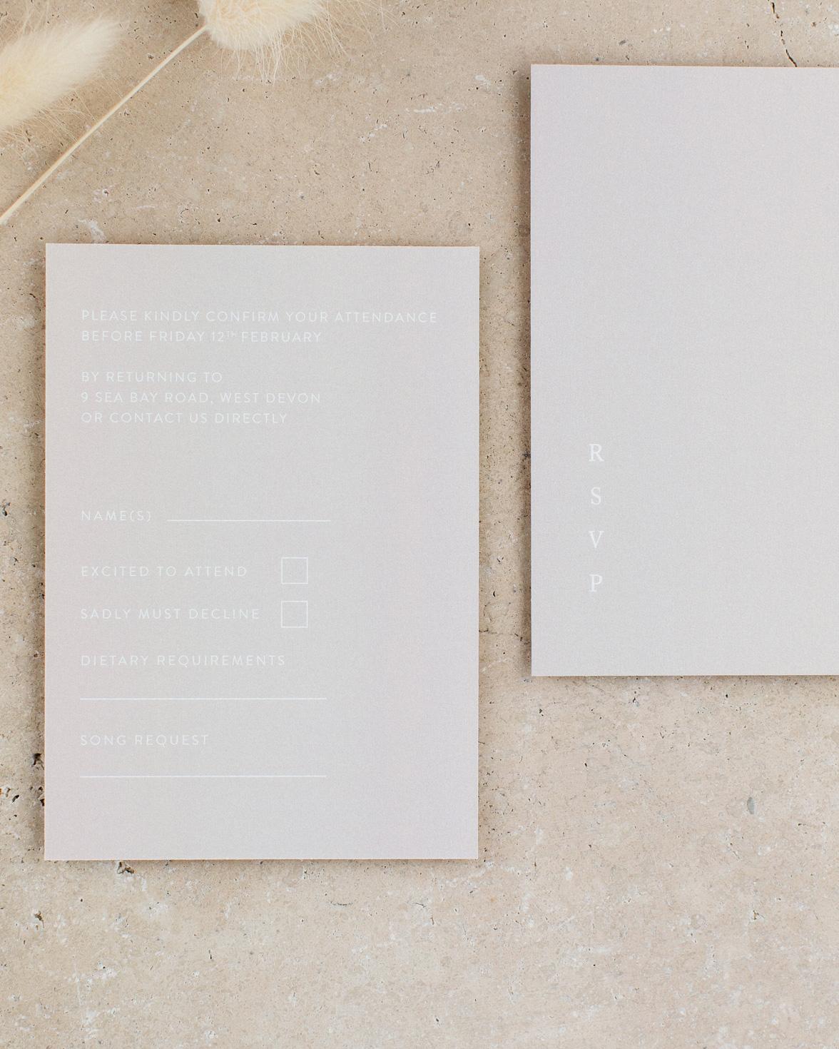 Love story Wedding details card