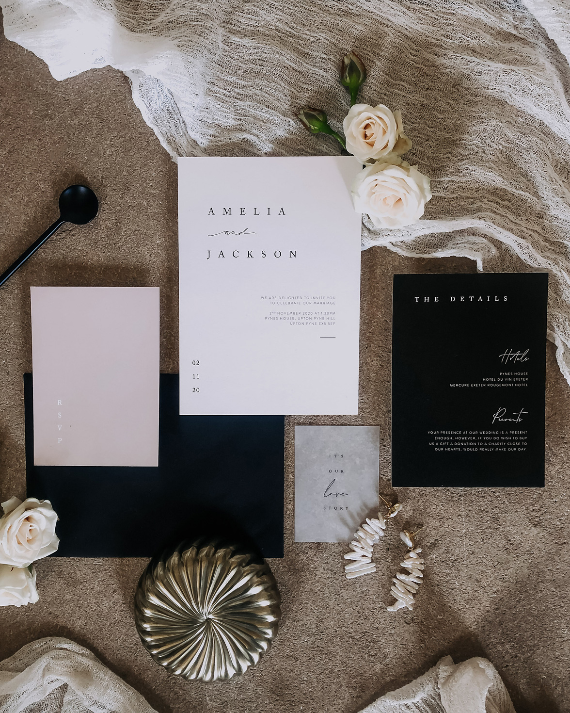 Love Story Wedding Stationery Pack