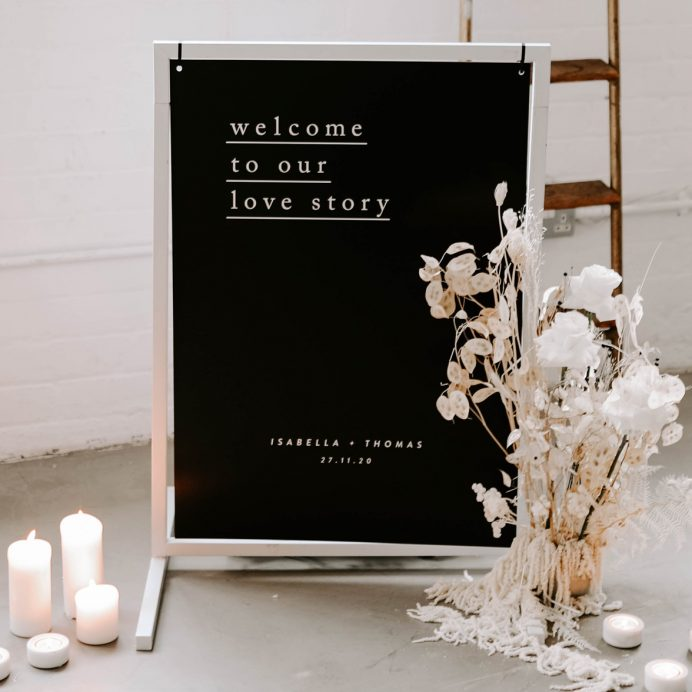 Simple Type wedding welcome sign