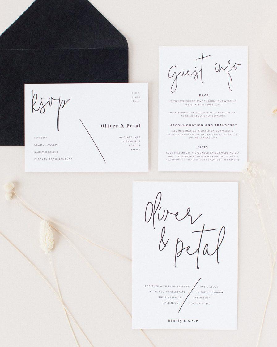 Script Wedding Stationery sample pack