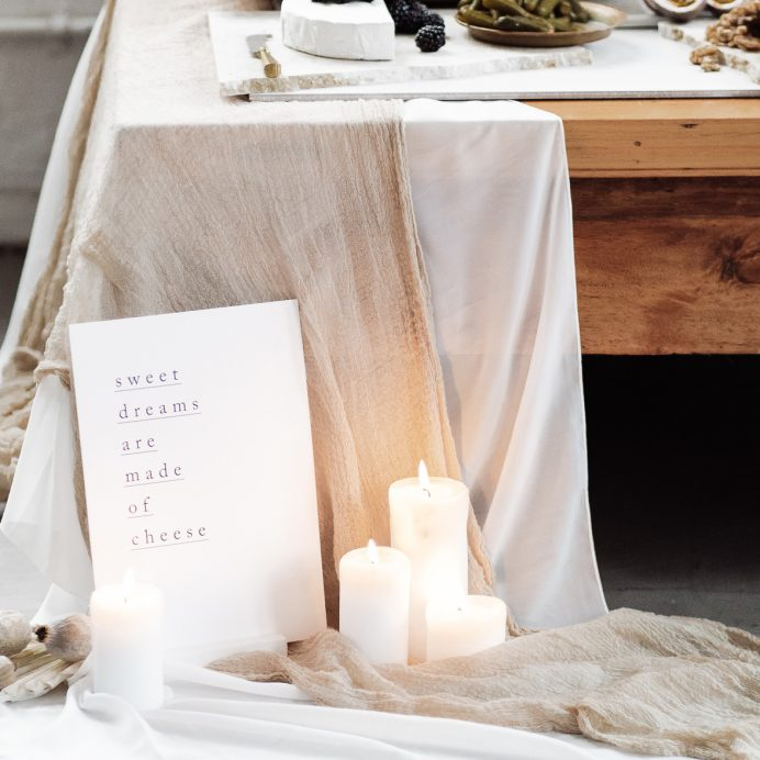Simple Type wedding grazing table sign