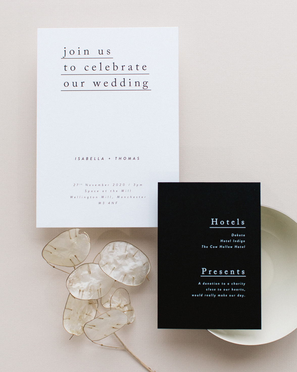 Simple Type Wedding Stationery sample pack