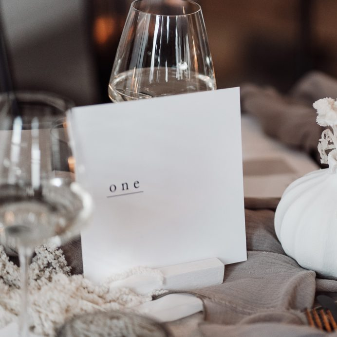Simple Type wedding table number
