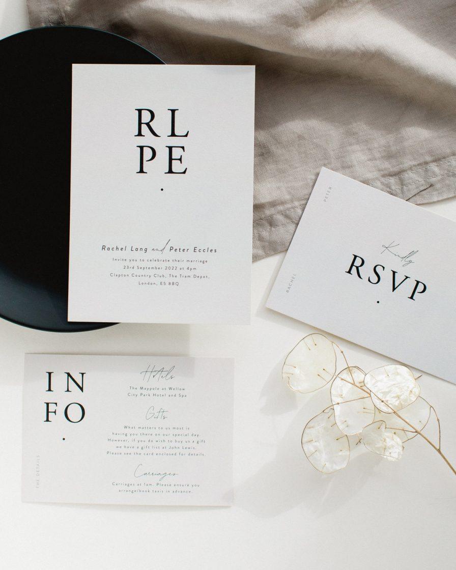 Timeless Wedding Stationery sample pack